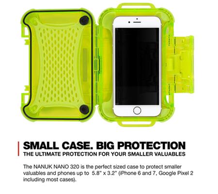Nanuk Nano 320 Protective Hard Case Lime