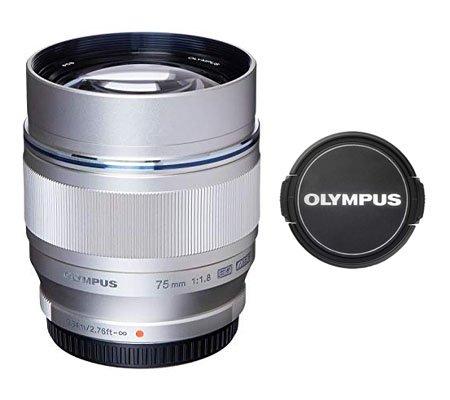 ::: USED ::: Olympus M.Zuiko Digital ED 75mm F/1.8 (Silver) (Mint-489)