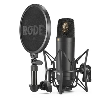 Rode NT-1 KIT 1 Inch Cardioid Condenser Microphone with SMR Shockmount