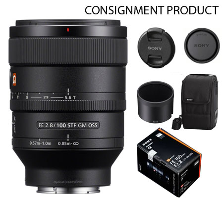 :::USED:::Sony FE 100mm f/2.8 STF GM OSS (Ex-Mint) #929 Consignment