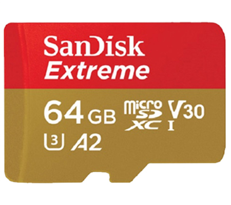 Sandisk Extreme Micro SDXC UHS-I 64GB (160MB/sec Read And 60MB/sec Write)