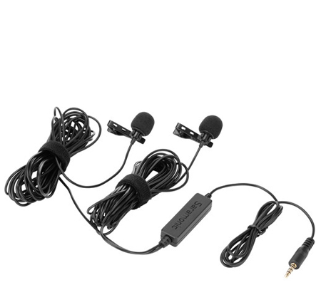 Saramonic LavMicro 2M Dual Lavalier Microphone for DSLR Camera and Smartphone
