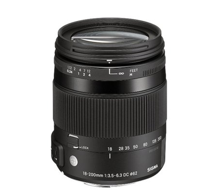 Sigma for Canon 18-200mm f/3.5-6.3 DC Macro OS HSM Contemporary (C).