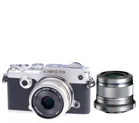 Olympus PEN-F Kit M. Zuiko 17mm F/1.8 + M. Zuiko 45mm f1.8 Silver