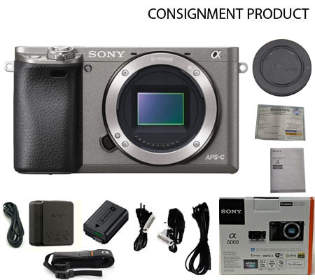 :::USED::: Sony A6000 Body (Grey) (Excellent-515) Consignment