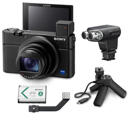 Sony Cyber-shot DSC-RX100 VII G +  Sony ECM-XYST1M Stereo Microphone