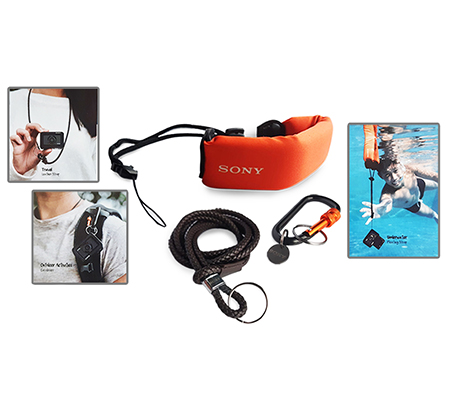 Sony Travel Kit (Floating Strap + Leather Strap + Carabiner) for Action Camera