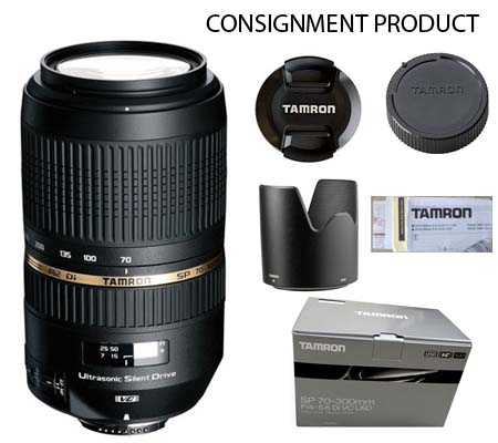 :::USED:::Tamron for Nikon SP 70-300mm f/4-5.6 Di VC USD (Exmint) #625 Consignment