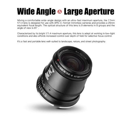 TTArtisan 17mm f/1.4 Lens for Sony E Mount