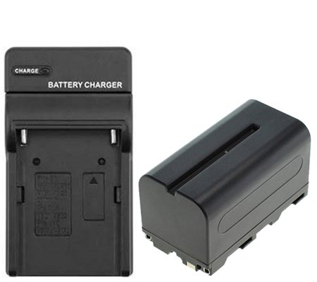 Digital Battery Replacement Sony NP-F750 + Charger for Sony HXR-MC2500 / Godox LED 500C