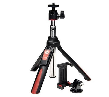 Benro MK10 Mini Tripod and Selfie Stick Red