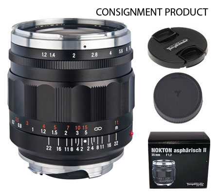 :::USED:::Voigtlander For Leica M Nokton Aspherical II 35mm f/1.2 Lens (Exmint) #033 Consignment