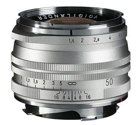 Voigtlander 50mm f/1.5 Aspherical II VM MC Nokton Vintage for Leica M Silver