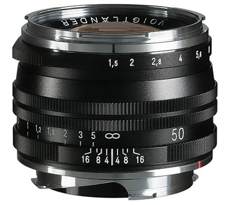 Voigtlander for Leica M Nokton Vintage 50mm f/1.5 Aspherical II VM SC Black
