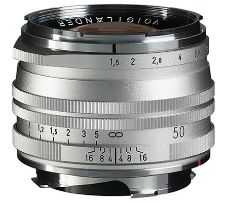 Voigtlander for Leica M Nokton Vintage 50mm f/1.5 Aspherical II VM Silver