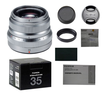 ::: USED ::: Fujifilm XF 35mm F/2 R WR (Silver) (Excellent To Mint-304)