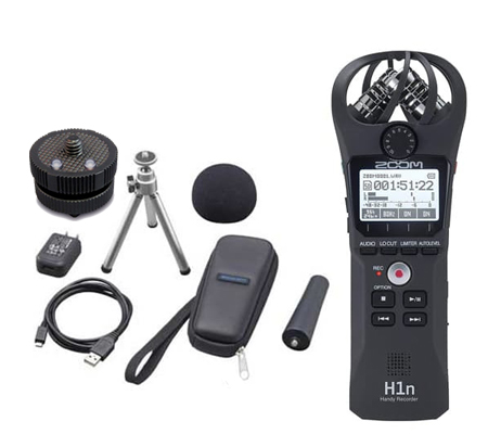 Zoom H1n Digital Handy Recorder + Accessories APH1 + HS-1