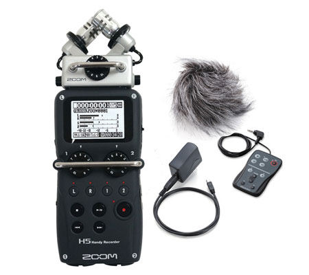 Zoom H5 4-Track Portable Handy Recorder Microphone + Accessories APH5