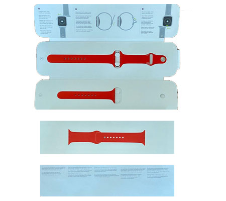 :::USED::: Apple Watch Strap 44mm Red Sport (100% Brand New)