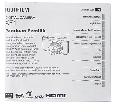 Fujifilm XF1 Manual Book