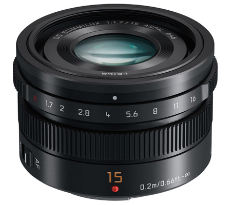 Panasonic Leica DG Summilux 15mm f/1.7 Lumix G ASPH Black
