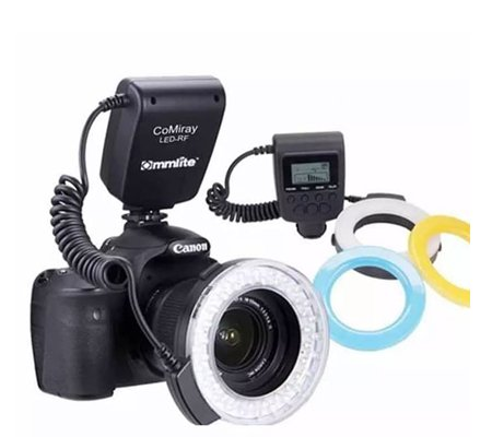 Commlite Flash LED Ring Light Macro For Canon Nikon Olympus