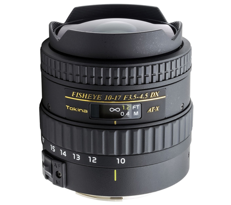 Tokina for Canon AF 10-17mm f/3.5-4.5 AT DX Lens Fisheye