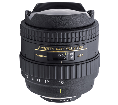 Tokina For Nikon 10-17mm f/3.5-4.5 AF DX Fisheye