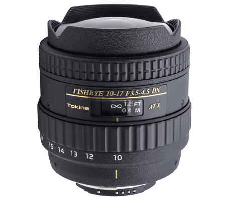 Tokina For Nikon 10-17mm f/3.5-4.5 AF DX Fisheye