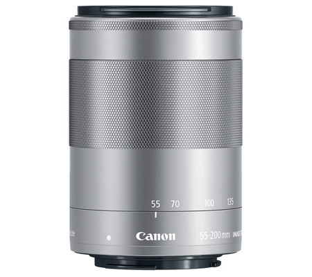 Canon EF-M 55-200mm f/4.5-6.3 IS STM Silver