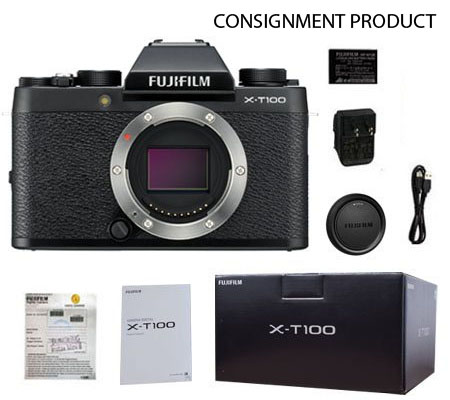 ::: USED ::: Fujifilm X-T100 Body (Black) (Excellent To Mint-793) CONSIGNMENT