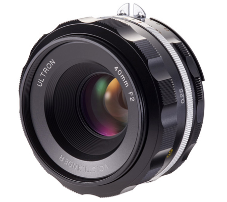 Voigtlander for Nikon F Ultron 40mm f/2 SL IIS Aspherical Lens Black