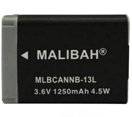 Malibah Canon NB-13L Battery for Canon G7X/G7XII/G5X/G9X/G9XII/SX720/SX620