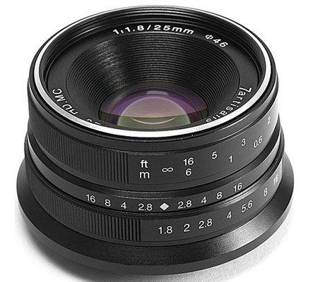 7Artisans 25mm f/1.8 for Sony E Mount Black