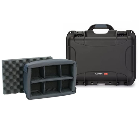 Nanuk 915 Waterproof Hard Case with Padded Dividers Black