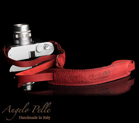 Angelo Pelle Neck Strap Deluxe Edition Red