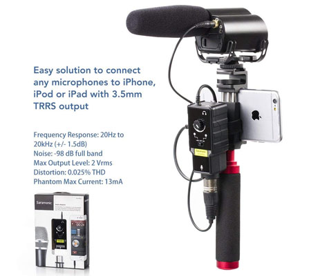 Saramonic SmartRig II Profession Audio Adaptor XLR Microphone