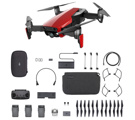 DJI Mavic Air Combo Onyx Flame Red