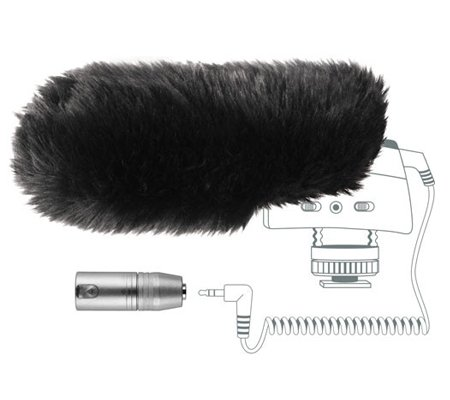 Sennheiser MZW 400 Hairy Windscreen and XLR Adapter