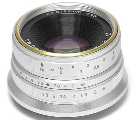7artisans 25mm f/1.8 for Fujifim X Mount Silver