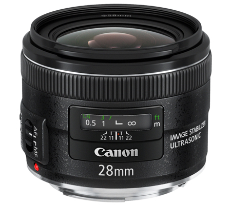 Canon EF 28mm f/2.8 IS USM.
