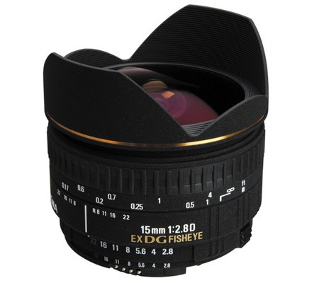 Sigma for Nikon 15mm f/2.8D  EX DG Fisheye