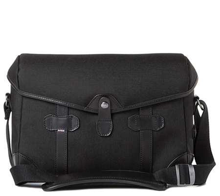 Barber Shop BBS-PB-3 Small Messenger Pageboy Camera Bag Black Cordura & Leather)
