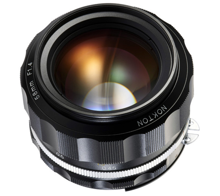 Voigtlander for Nikon Nokton 58mm f/1.4 SL II S Lens Black