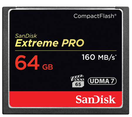 SanDisk CF Extreme Pro 64GB UDMA 7 (160MB/sec Read (1067X) and 150MB/sec Write (1000X)