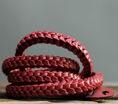 Barton Braided Passion Red