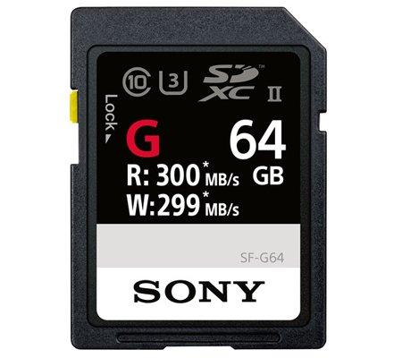 Sony SF-G SDXC UHS-II U3 64GB (300MB/s Read and 299MB/s Write)