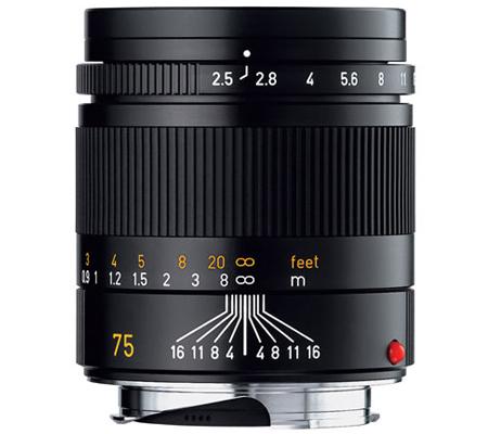 Leica 75mm f/2.5 Summarit-M Black (11645)