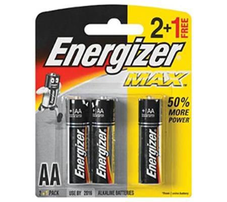 Energizer Alkaline AA 2pcs + 1pc Free Battery