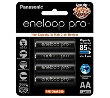 Panasonic Eneloop Battery AA 2550mah Bp4 Pro